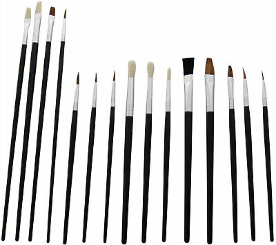 🎨New 15 X Large & Small Artist Paint Brush Set Brushes Painting Kit Acrylic Oil • 2.95£