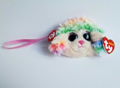 Ty RAINBOW The POODLE Plush Zipped Wristlet Coin Purse. Original Ty With Tags  • 2.99£
