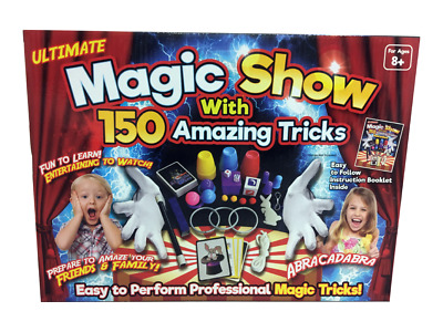 Children Magic Set 150 Tricks Kids Magician Illusions Trick Kit With Accessories • 9.89£