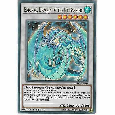 DUDE-EN008 Brionac, Dragon Of The Ice Barrier | 1st Edition | Ultra Rare YuGiOh • 0.99£