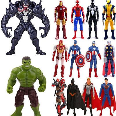 Toys Gift Marvel Avengers Superhero Spiderman Venom Hulk Wolverine Action Figure • 19.99£