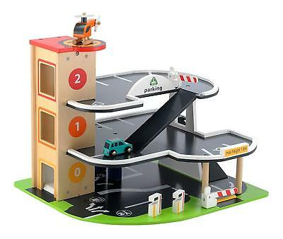 Elc Wooden Garage Big City Playset Kids Boys Toy Car Set Early Learning Centre • 37.95£