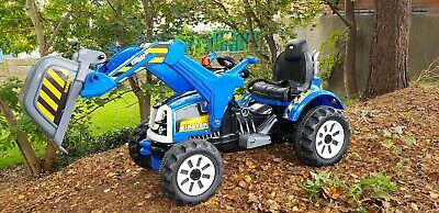 Electric Ride On Toy Digger Tractor Car Kids Riding 12v Battery Powered Wheels • 169.99£
