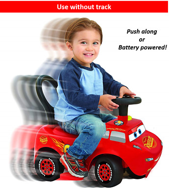 Latest Kiddieland Disney Cars Lightning McQueen 3 In 1 Ride On Toy With Track  • 29.45£