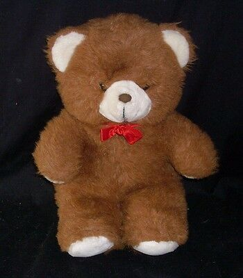 16  Vintage C E Berwick British Brown Fuzzy Teddy Bear Stuffed Animal Plush Toy • 28.01£