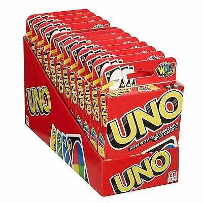 UNO Card Game With WILD CARDS Latest Version Great Family Fun UK SELLER • 2.99£