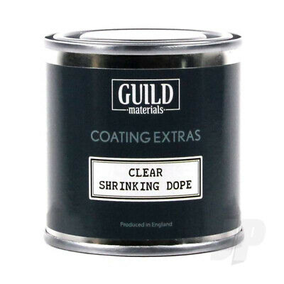 Guild Materials Clear Shrinking Dope (125ml Tin) For RC Model Aircraft • 9.49£