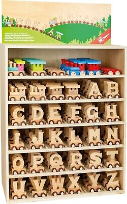 Personalised Wooden Name Train Letters Toy Child Bedroom Free Shipping 5 Or More • 1.50£