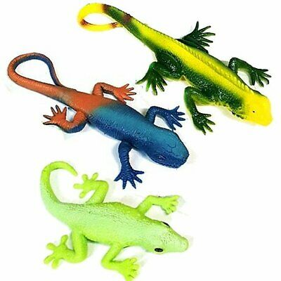 Set Of 3 Stretchy Lizard Toys - Assorted Lizard Designs - Party Favours Sensory • 7.99£