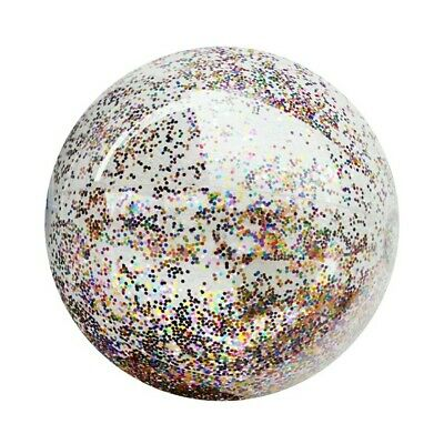 Sequin Beach Ball Glitter Holidays PVC BeachBall Inflatable Swim Pool Giant Fun • 6.50£