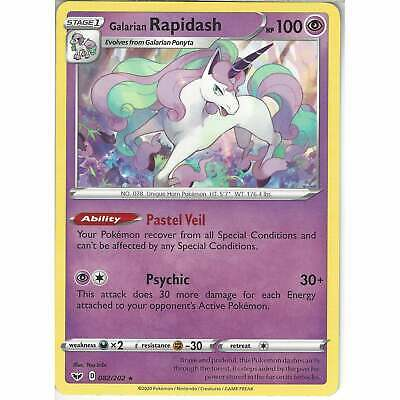 082/202 Galarian Rapidash | Pokemon TCG Sword And Shield (Base Set) S&S • 0.99£