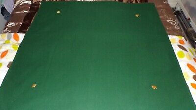 Portable Green Playing Baize Made In UK 1970s Bridge Poker Card Game Hand Made • 16.70£