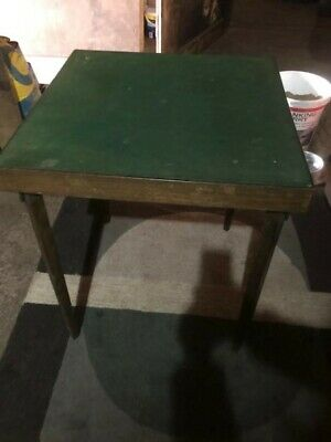 Vintage Card And Games Table With Folding Legs All Original • 15£