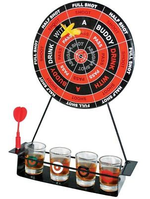 Magnectic Dart Board Drinking  Party Game Set With Shot Glasses • 9.99£