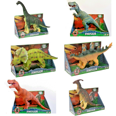 40cm+ Large Soft Rubber Stuffed Dinosaur Play Toy Animal Action Figures + Sound • 12.10£
