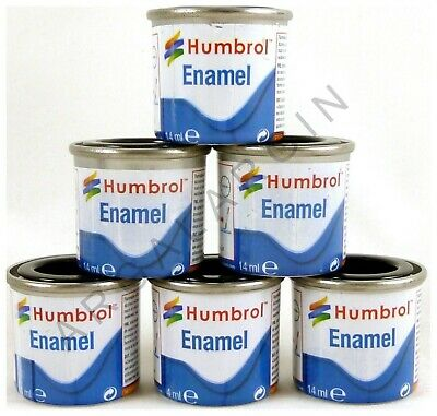 HUMBROL Enamel Model Paint 14ml - ALL COLOURS - Matt Gloss Satin Metallic Airfix • 4.79£