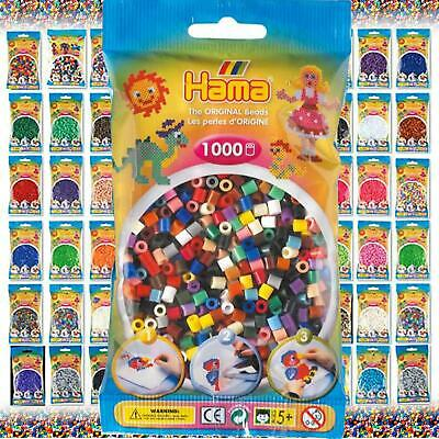 Hama Beads - The Complete Selection -  1000 Midi Bead Packs & Pegboards • 2.29£