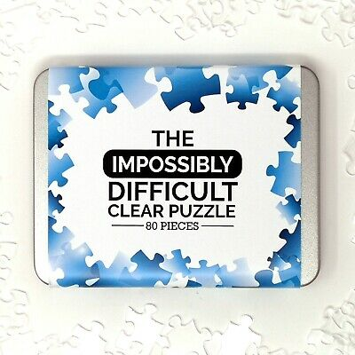 The Impossibly Difficult Clear Blank Acrylic Puzzle - 80 Pieces - UK Stock • 11.95£