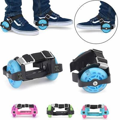 Kids Heel Wheels Roller Skates Attachable With Shoes Trainers Wheels Boys Girls  • 11.95£