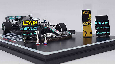 Spark S6099 1/43 2019 Mercedes W10 Lewis Hamilton P2 USA GP World Champ Special  • 69.99£