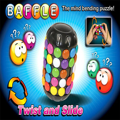 Baffle Puzzle Twist-Turn-Solve Brain Teaser Stocking Fun Filler Christmas Gift • 10.95£