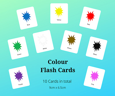 Educational Flash Cards - Explosion Colours - Free Postage - EYFS/Toddler/SEN • 3.10£