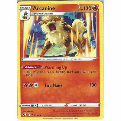 028/192 Arcanine | Rare Card | Pokemon TCG Sword & Shield Rebel Clash SWSH02 • 1£