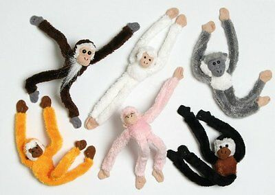 15cm Magnetic Monkey Soft Toy / Decoration - 1 Supplied At Random (HL46) • 2.99£