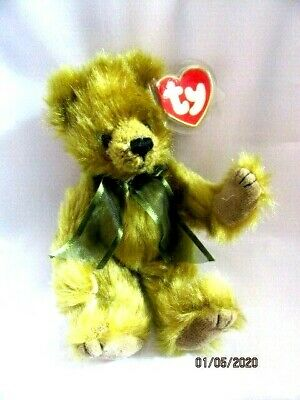 Ty Beanies Bear - Attic Treasures Fern With Tag - Mint - Retired • 7.99£