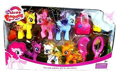 Huge My Little Pegasus Pony Unicorn Fantasy Play Set With Accessories Kids Gift  • 12.99£