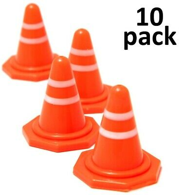 Mini Traffic Cones Toy, Obstacle Course, RC Training - 1.5 Inches, Pack Of 10 • 5.99£