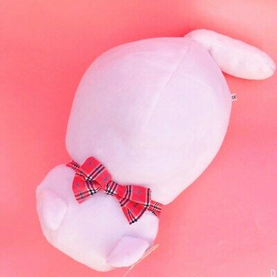 Large 40cm Long Kawaii Neko Cat Plush Cute Bread Loaf White Kitten With Bow Gift • 9.99£