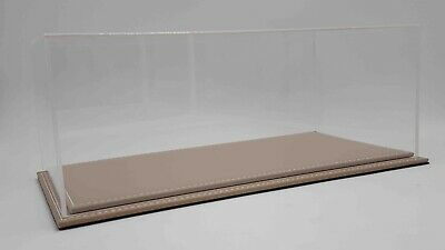 ATLANTIC CASE 1/18 Scale Model Car Display Case With Beige Leather Base • 49.99£