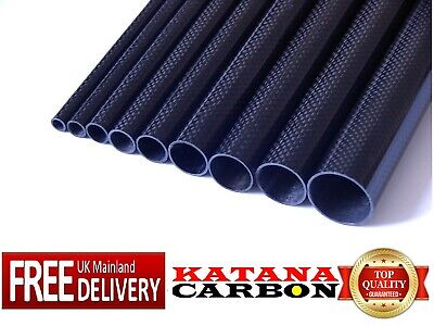 Gloss 3k Carbon Fiber Tube Length 500mm All Sizes OD From 8mm To 40mm Plain  • 9.25£