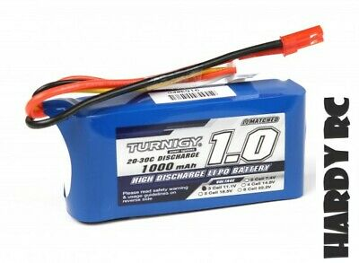 Turnigy 1000mAh 3S 11.1V 20C JST-2P Lipo Battery RC Drones/Helicopters • 10.55£