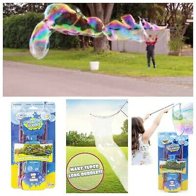 Giant Bubble Maker Wand Solution Gigantic Summer Beach Garden Birthday Toy 5+ • 8.99£