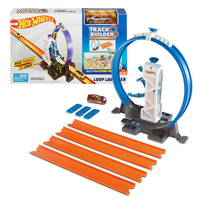 Hot Wheels Track Builder System LOOP LAUNCHER PLAYSET & Car Toy Mattel Official • 18.50£