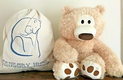 NEW Weighted 4lb / 1.8kg Sensory Cream Bear 35cm Soft Toy Autism Anxiety Stress • 35£