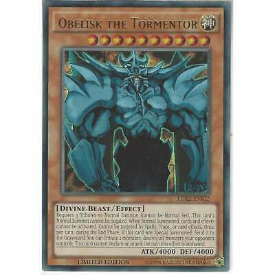 LDK2-ENS02 Obelisk The Tormentor | Ultra Rare YuGiOh Egyptian God Card | Lim Ed • 3.95£