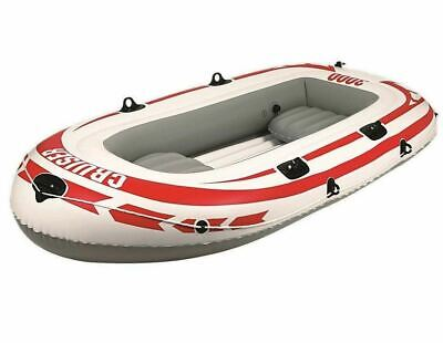 Inflatable Rubber Dinghy Paddle Boat Cruiser Raft Lake Sea Pool Water Beach • 38.95£
