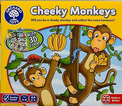 Orchard Toys Cheeky Monkeys Game, Number And Counting, Educational, New • 13£