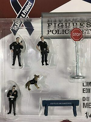 Police Set Figures,Scale 1:64 By American Diorama • 15.99£