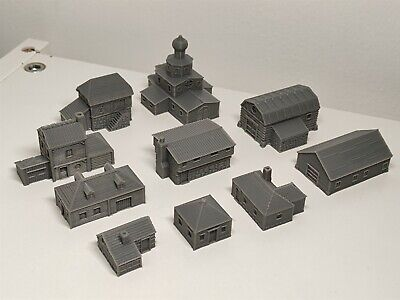 6mm Scale Wargame Scenery Russian Village Buildings – 10 Items • 20£
