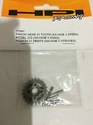 HPI Pinion Gear 21 Tooth (for Savage 3 Speed) 77061 • 7.99£
