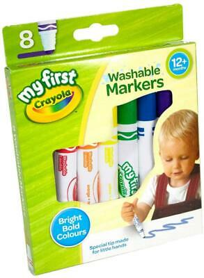 Crayola My First Washable Markers Pack Of 8 • 3.95£