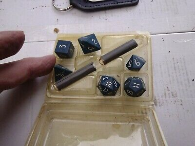 Set Of 6 Gaming Dice - Dungeons & Dragons Etc... W/Chalk - Listed - VG+ • 3.09£