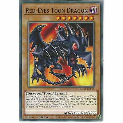 LDS1-EN066 Red-Eyes Toon Dragon 1st Edition Common YuGiOh Trading Card Game TCG • 0.99£