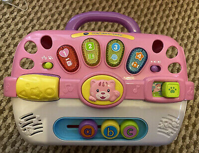 VTech Cosy Kitten Carrier Interactive Toy, Baby Activity Center • 9.99£