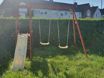Plum 2 Swings & Slide Set • 120£