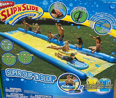 Supersized 790cm Slip N Slide With Inflatable Boards Wham O 24 X 4ft Water Slide • 132.98£